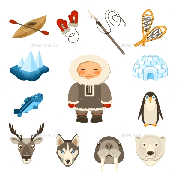 GraphicRiver Chukchi Icons Set 10906774