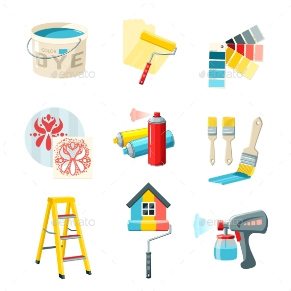GraphicRiver Painting Work Set 10906782