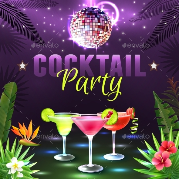 GraphicRiver Cocktail Party Poster 10906819