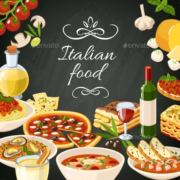 GraphicRiver Italian Food Illustration 10906831