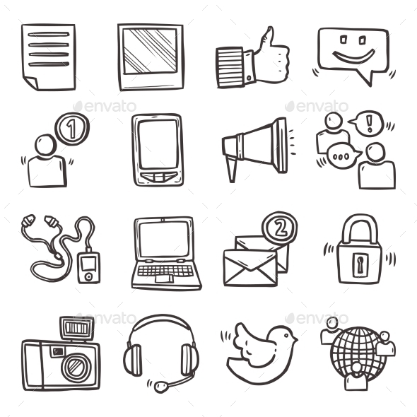 GraphicRiver Social Media Icons Set 10906876