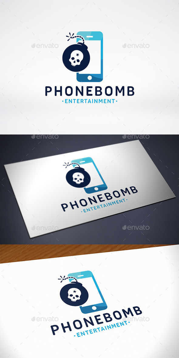 GraphicRiver Phone Bomb Logo Template 10907011