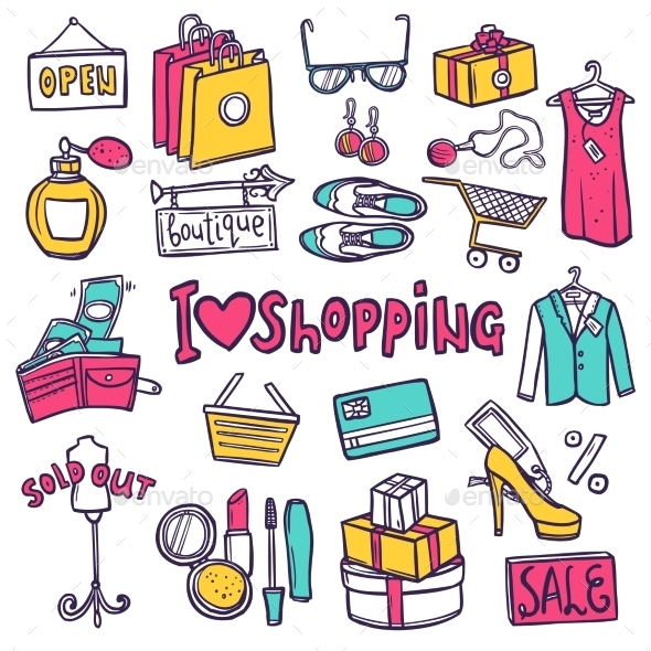 GraphicRiver Shopping Icons Set 10907022