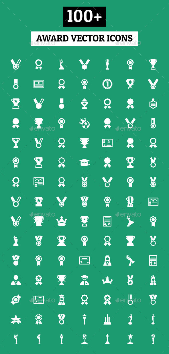 GraphicRiver 100& Award Vector Icons 10907027