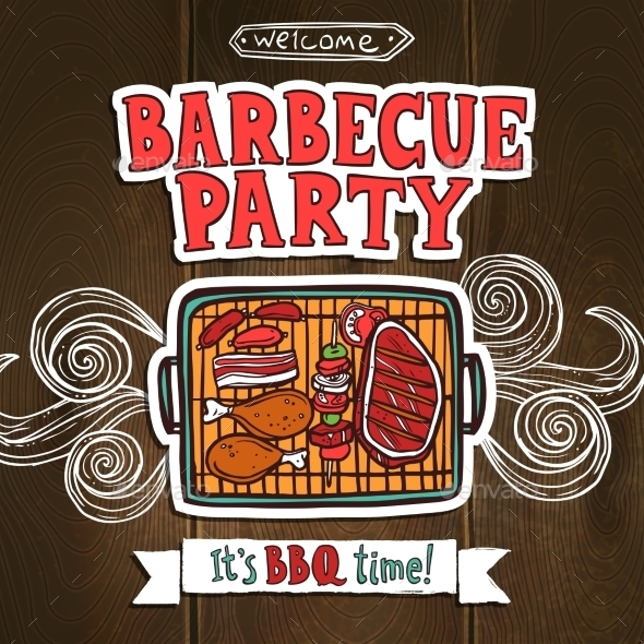 GraphicRiver Bbq Grill Party Poster 10907058
