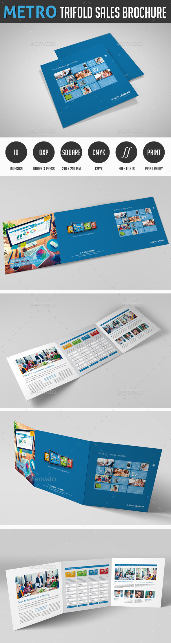 Metro Tri-fold Sales Brochure - Corporate Brochures