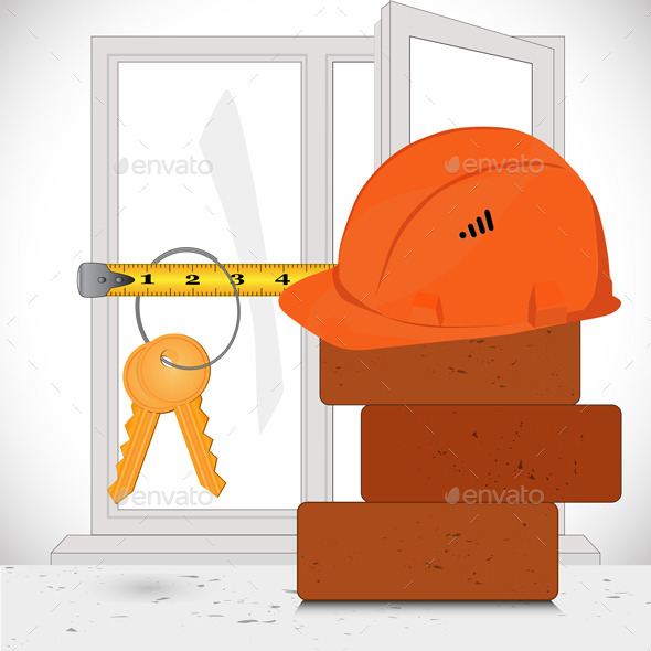 GraphicRiver Construction Materials and Keys 6807742