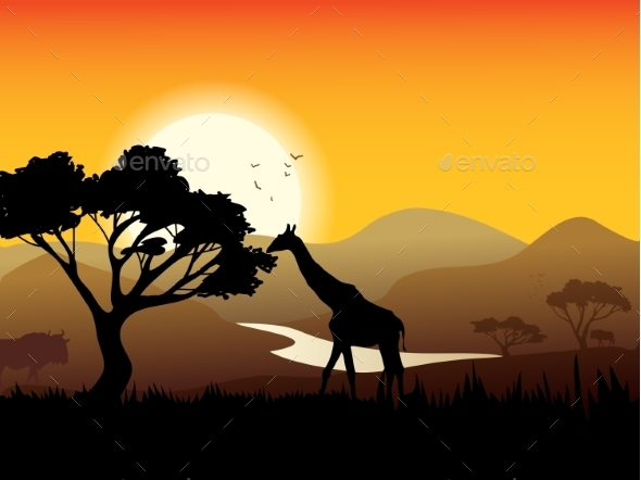 GraphicRiver African Landscape Poster 10908223