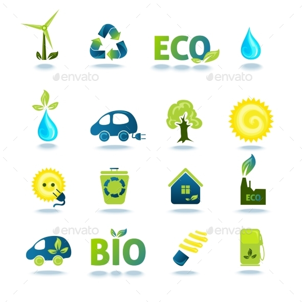 GraphicRiver Ecology Icons Set 10908235
