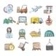 Logistics Sketch Icons Set - GraphicRiver Item for Sale