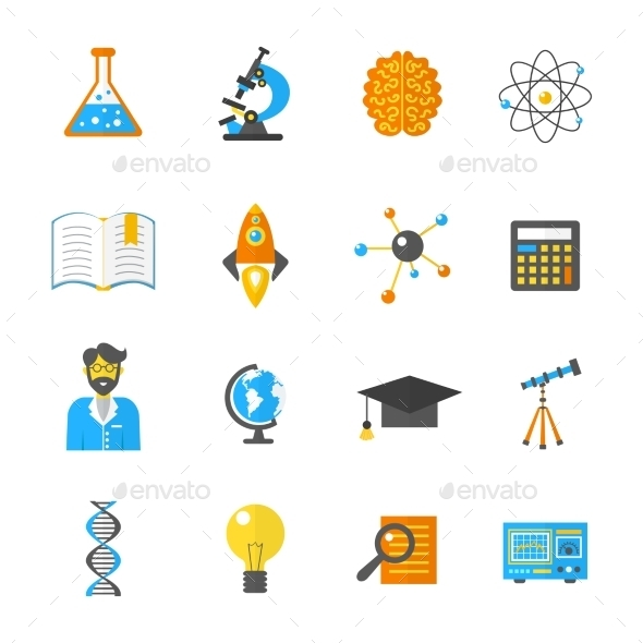 GraphicRiver Science And Research Icon Flat 10908312
