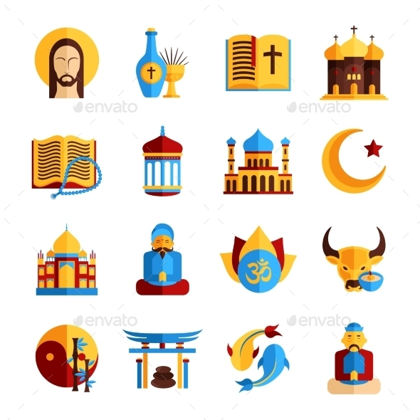 GraphicRiver Religion Icon Set 10908368