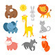 Cartoon Animals Zoo - GraphicRiver Item for Sale