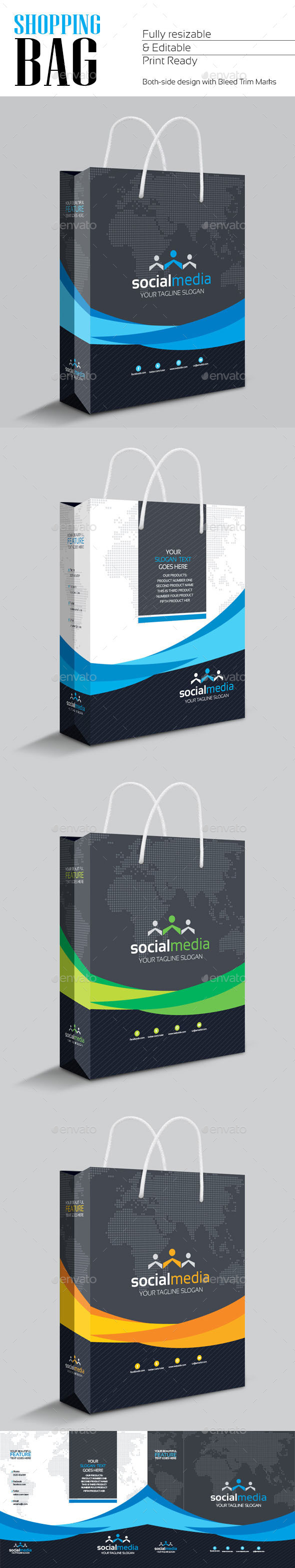 GraphicRiver Social Media Shopping Bag 10908373