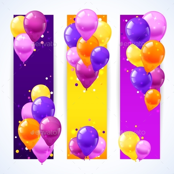 GraphicRiver Colorful Balloons Banners Vertical 10908385