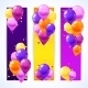 Colorful Balloons Banners Vertical - GraphicRiver Item for Sale
