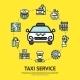 Taxi Service Illustration - GraphicRiver Item for Sale