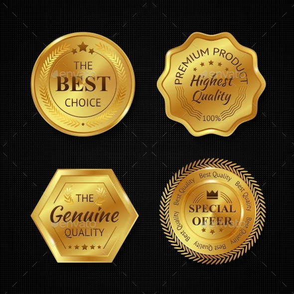 GraphicRiver Golden Metal Badges 10908523
