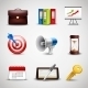 Realistic Business Icons - GraphicRiver Item for Sale