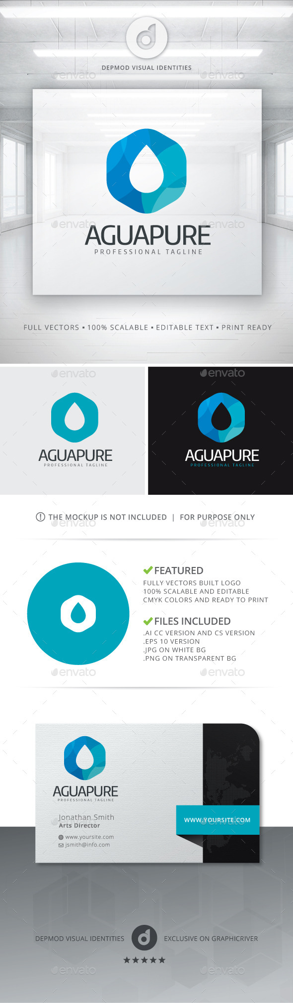 GraphicRiver Agua Pure Logo 10908690