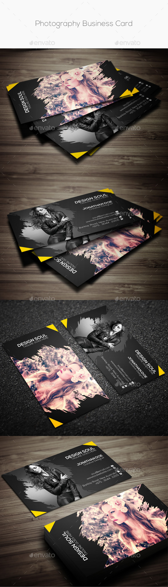 GraphicRiver Photography Business Card 10908753