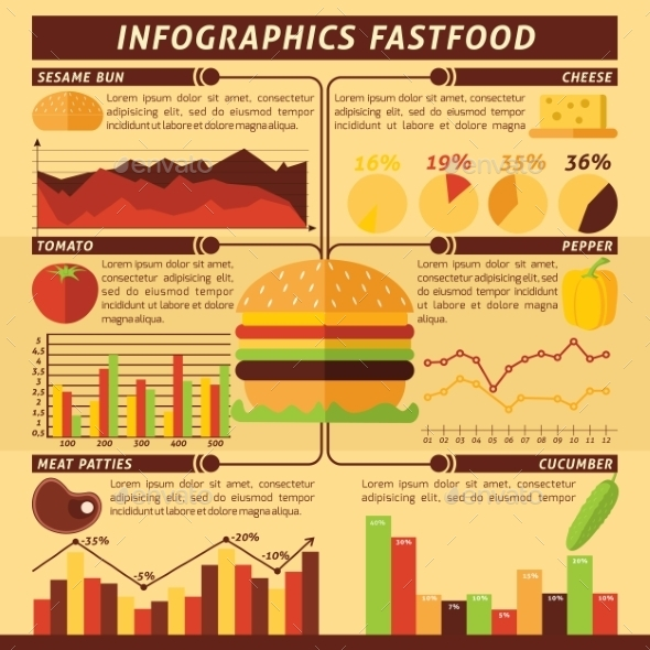 GraphicRiver Fast Food Infographics 10908756