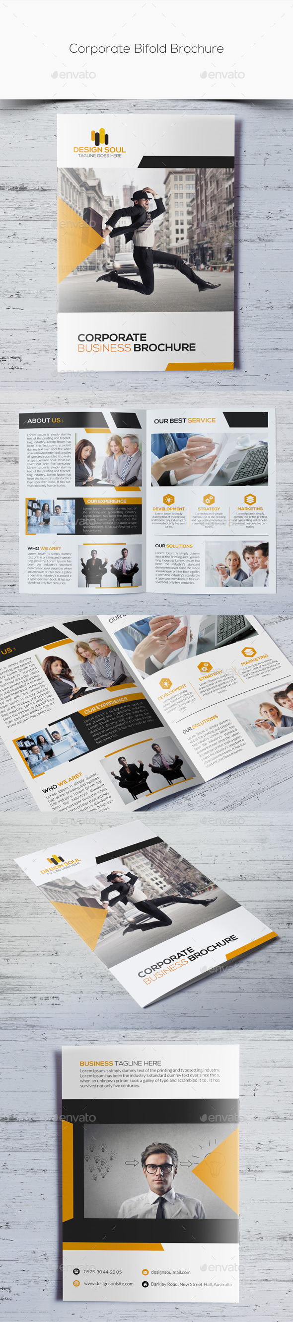 GraphicRiver Corporate Bifold Brochure 10908783