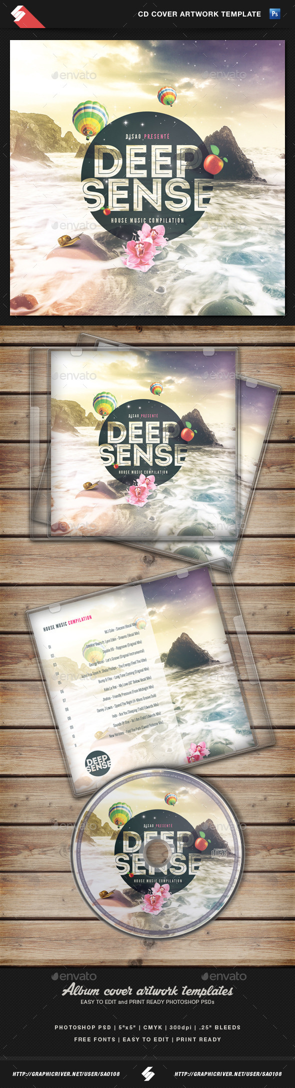 GraphicRiver Deep Sense Sensual CD Cover Artwork Template 10908793