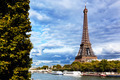 Eiffel Tower and Seine River, Paris, France - PhotoDune Item for Sale