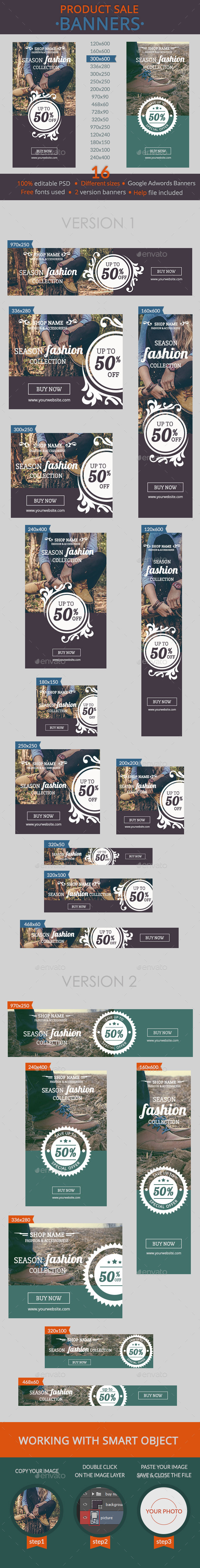 GraphicRiver Product Sale Banners 10908988
