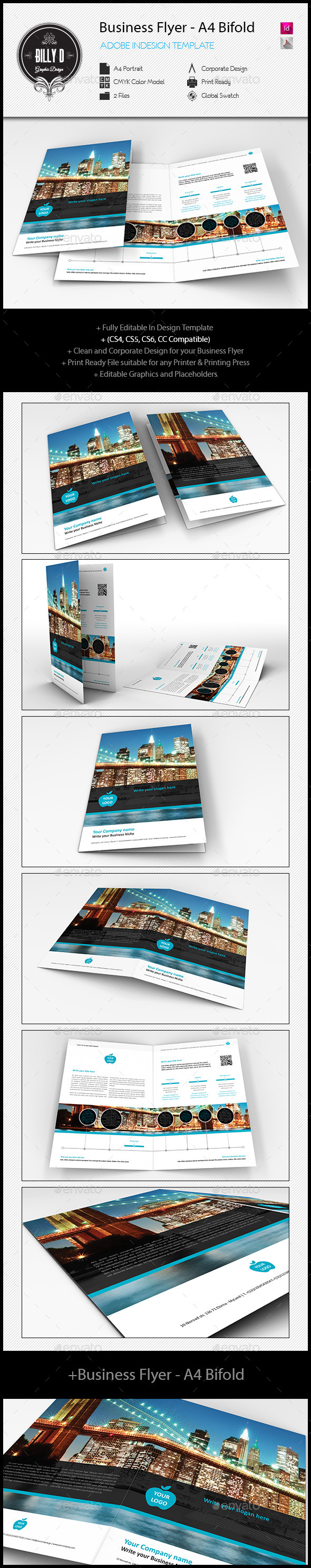 GraphicRiver Business Flyer A4 Bifold 10843053