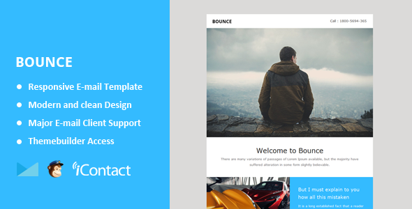 ThemeForest Bounce Responsive Email & Themebuilder Access 10909263