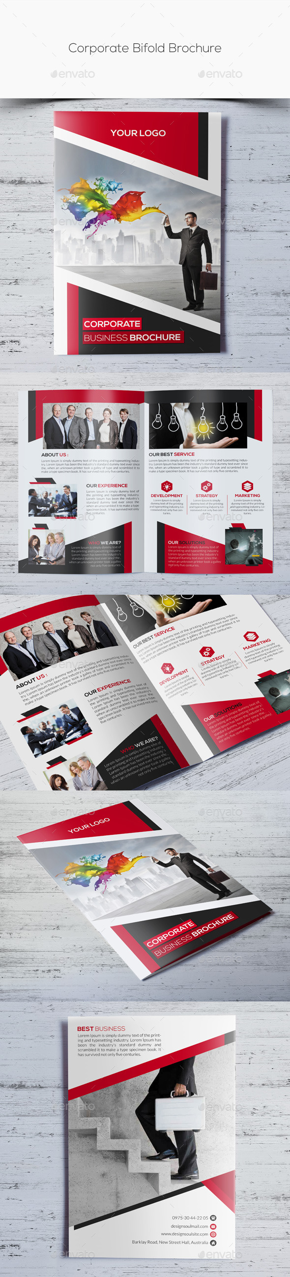 GraphicRiver Corporate Bifold Brochure 10909276