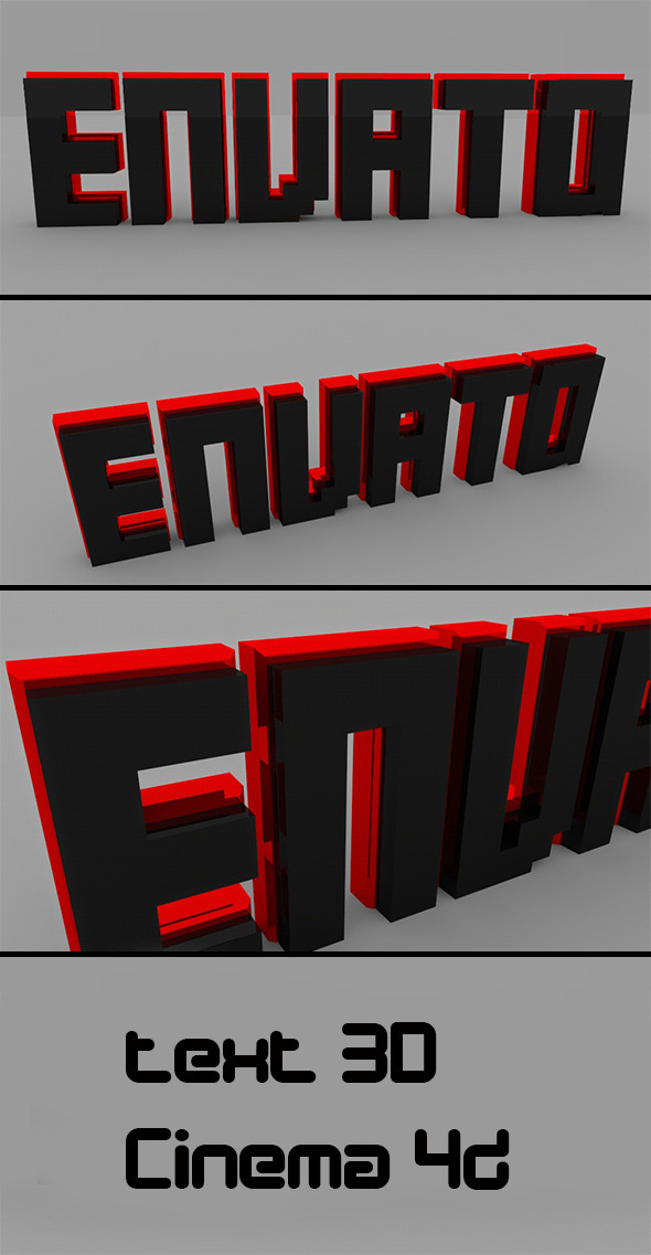 Text 3D Envato  - 3DOcean Item for Sale