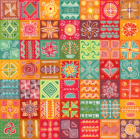 GraphicRiver Tribal Texture 10909605
