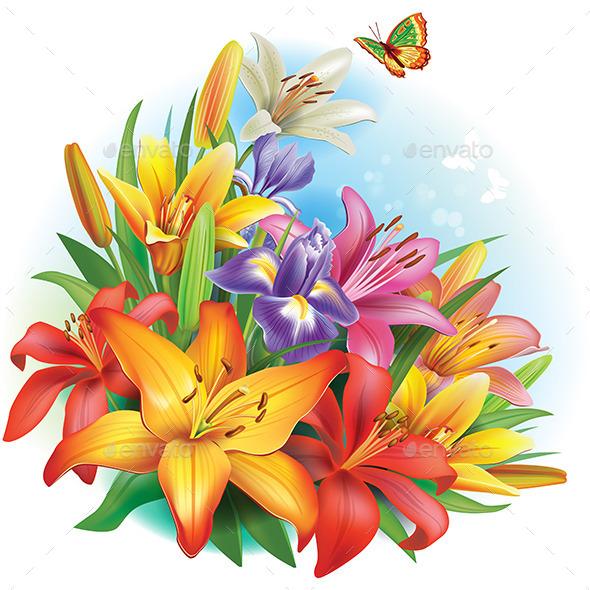 GraphicRiver Arrangement of Flowers 10909692