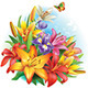 Arrangement of Flowers - GraphicRiver Item for Sale