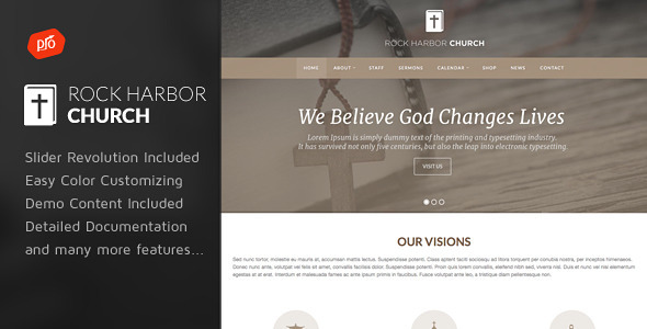 ThemeForest Rock Harbor Church WordPress Theme 10909693