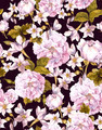 Vintage Seamless Background with White Flowers - PhotoDune Item for Sale
