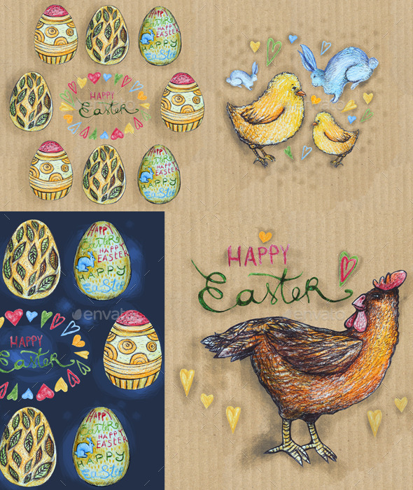 GraphicRiver Happy Easter Symbols 10909812