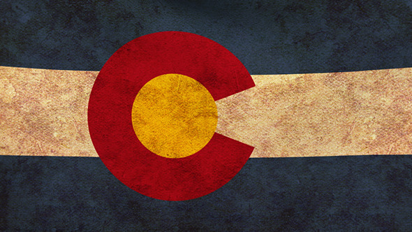 Colorado Flag 2 Pack Grunge and Retro
