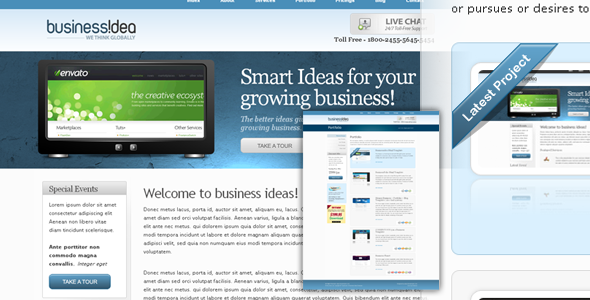 BusinessIdea Portfolio + Business Web 2.0 Theme