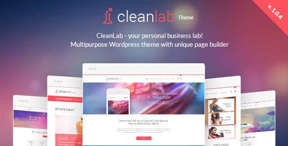 CleanLab - Creative Multi Purpose WordPress Theme with Page builder