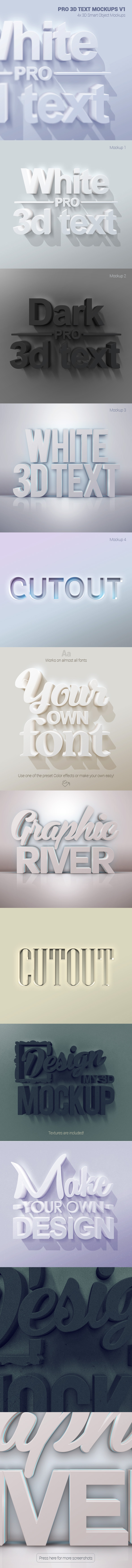 GraphicRiver Pro 3D Text Mockups V1 10911811