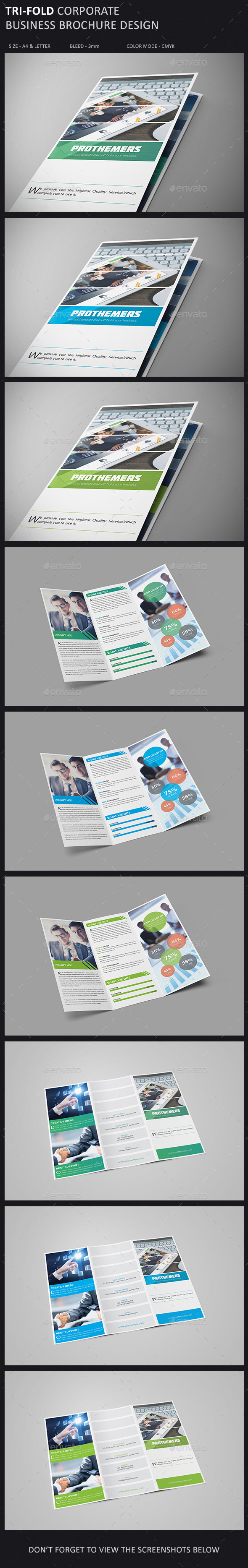 GraphicRiver Tri-Fold Brochure Template 10911915