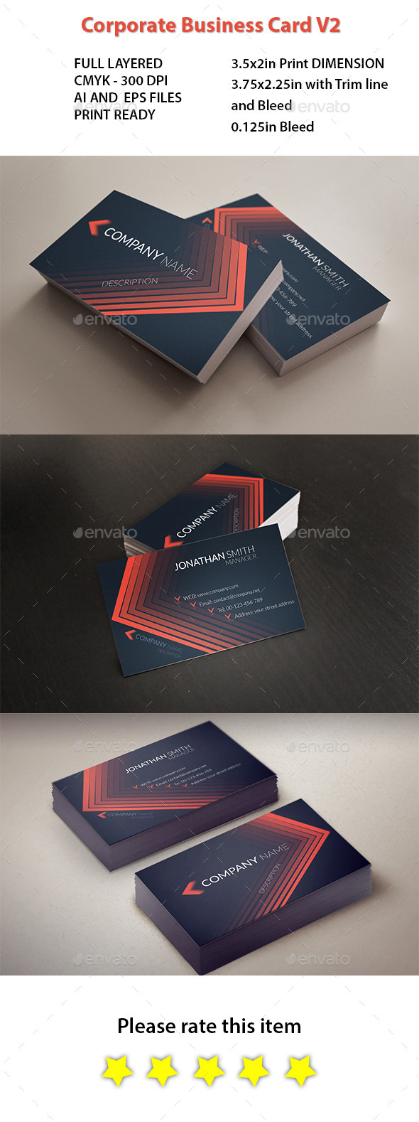 GraphicRiver Corporate Business Card 10912962