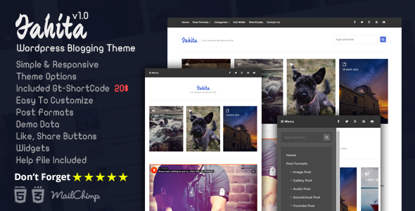 ThemeForest Fahita Minimal WordPress Blog Theme 10319208
