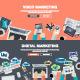 Set of Flat Design Concepts for Marketing  - GraphicRiver Item for Sale