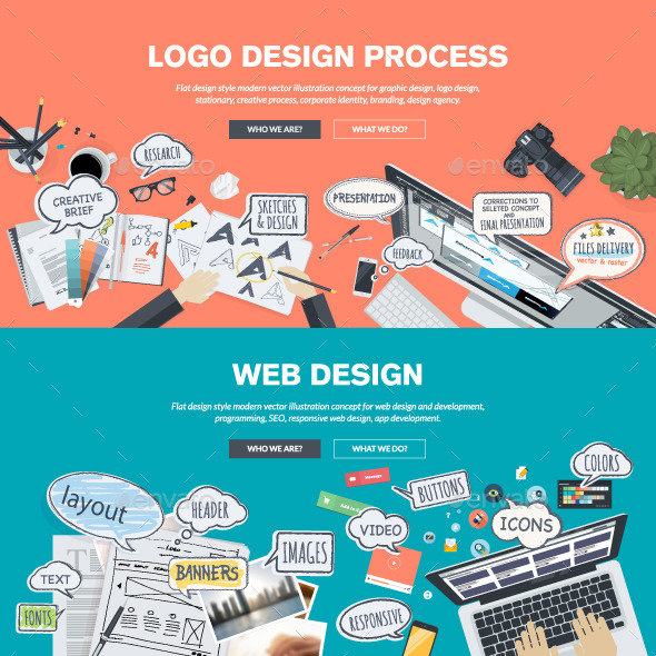 GraphicRiver Flat Design Concepts for Logo and Web Design 10913272