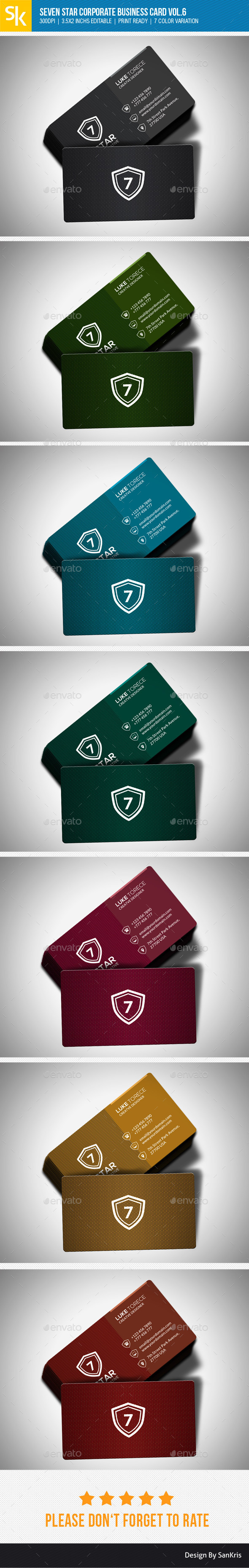 GraphicRiver Seven Star Corporate Business Card Vol.6 10913323